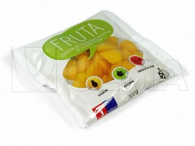Ambalare fructe congelate in vertical, in pachete tip perna si film laminat