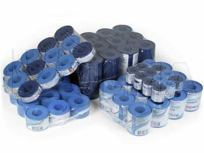 Ambalare grupuri de role de plasturi in film shrink polietilena de densitate joasa (LDPE)