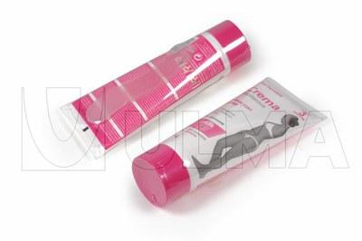 Ambalare crema depilatoare in tuburi termale cu spatulă în poliolefine.
