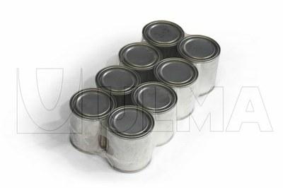 Ambalare tip sleeve pentru cutii metalice cu vopsea sau lac in film polietilena de joasa densitate (LDPE)